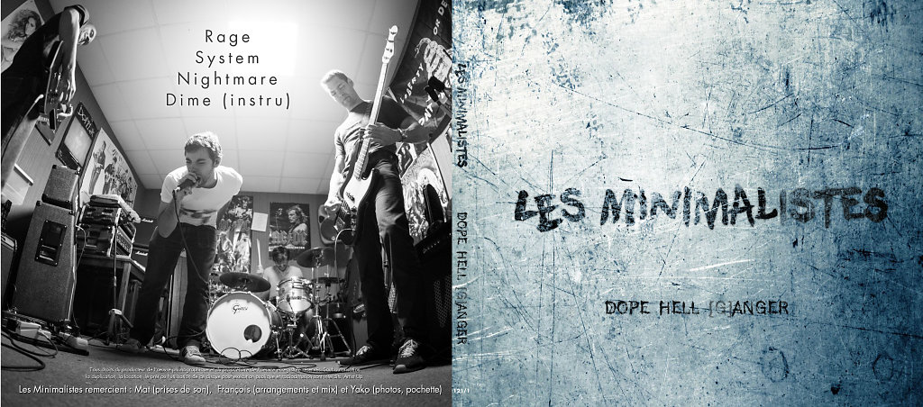 "Les Minimalistes ""Dope Hell (G)Anger"" - EP Cover"